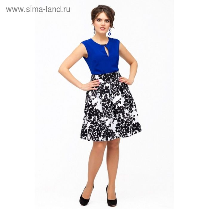 Юбка женская, размер 50, цвет чёрно-белый Ю-159 1 (1664285) - Купить ... d27ee854f99