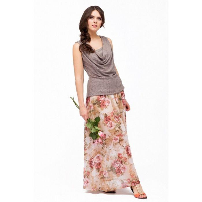 Юбка женская, размер 44, цвет цветочный принт Ю-160
