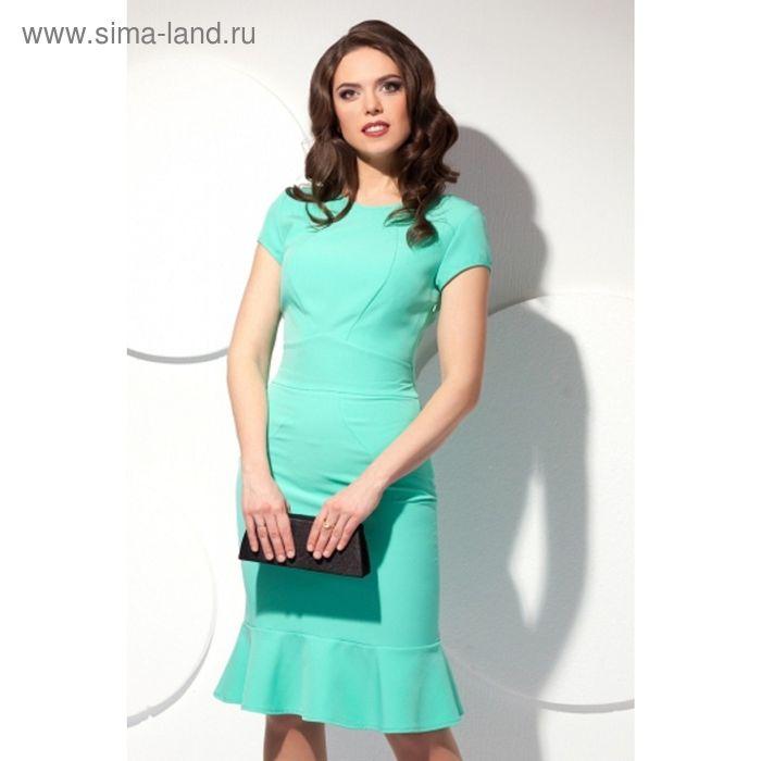 Платье женское, размер 50, цвет мятный П-425