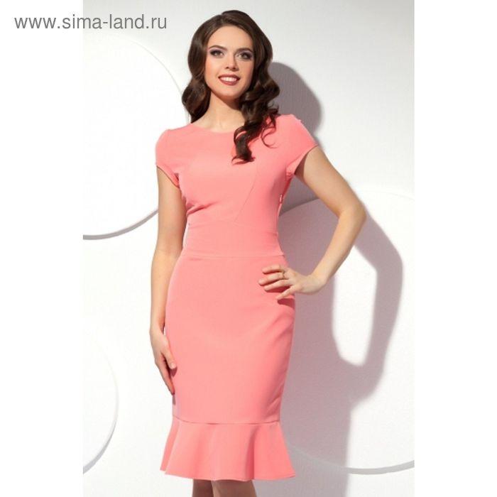 Платье женское, размер 54, цвет розовый П-425/2