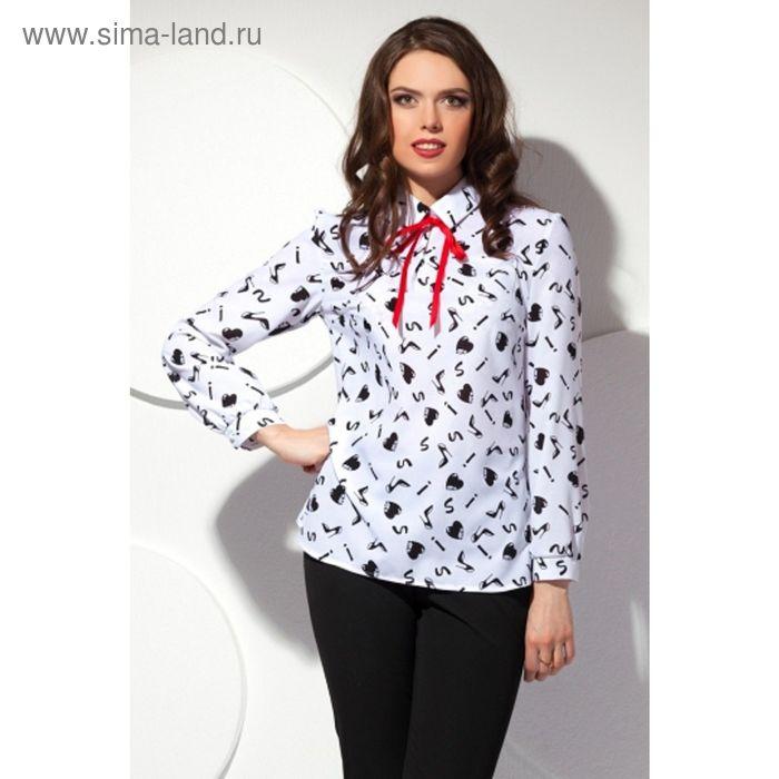 Блуза женская, размер 54, цвет белый Б-149/1