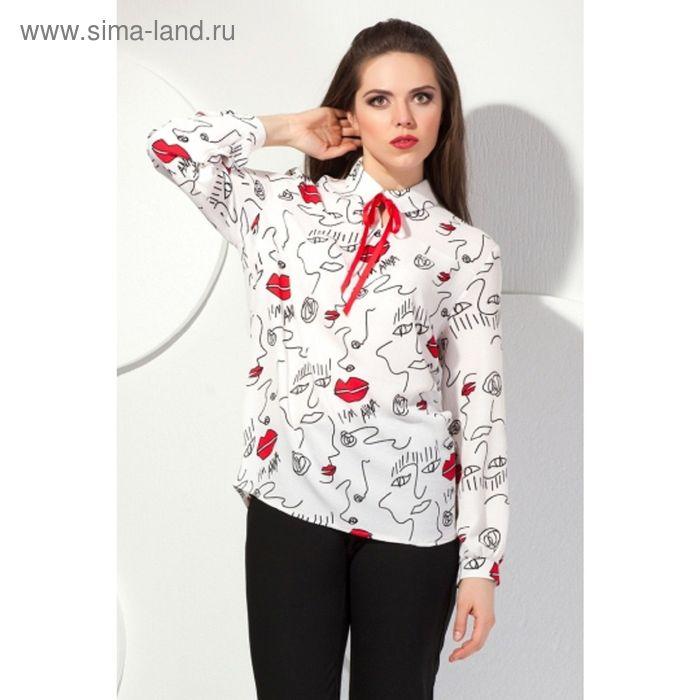 Блуза женская, размер 50, цвет молочный Б-149