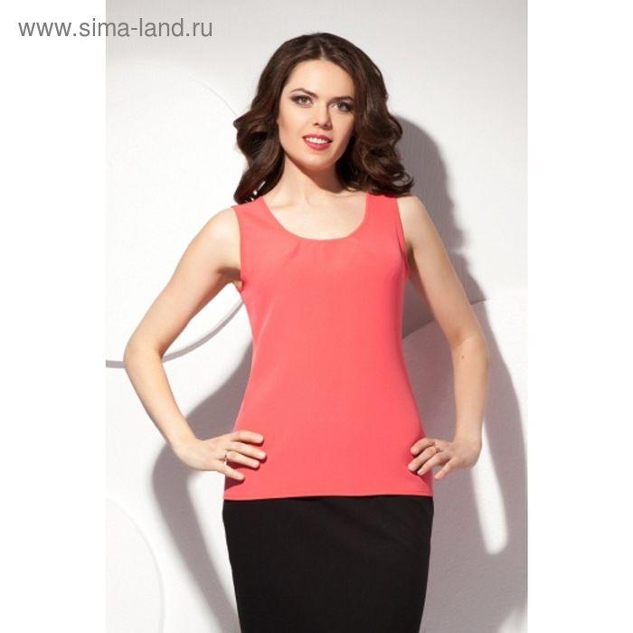 Блуза женская, размер 52, цвет коралловый Б-150/2
