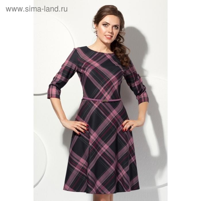 Платье женское, размер 48, цвет серый+розовый П-321/17