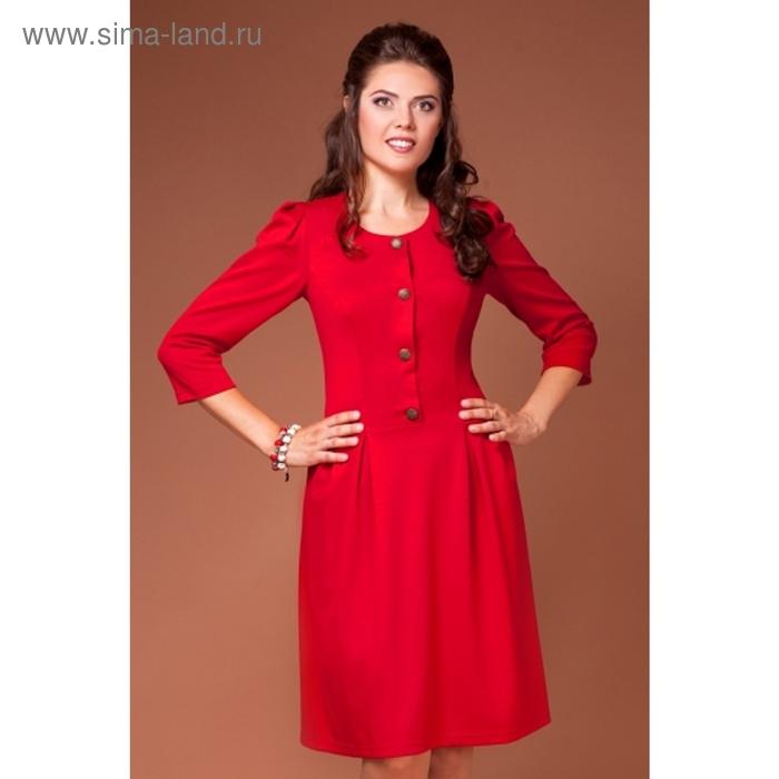 Платье женское, размер 44, цвет красный П-323