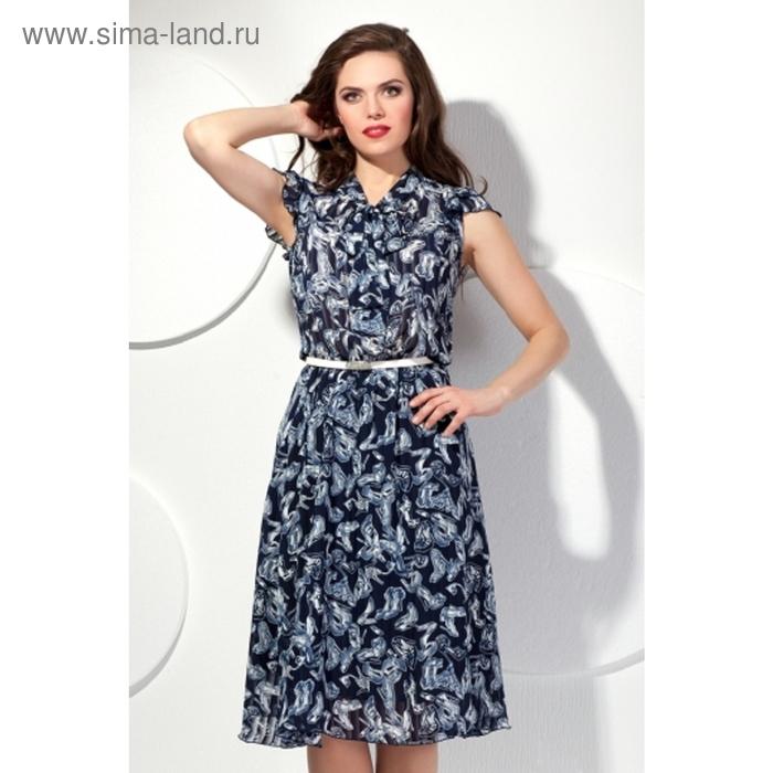 Платье женское, размер 46, цвет синий П-357/3