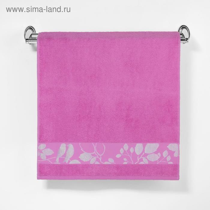 """Полотенце махровое """"Этель"""" Passero, розовый 70*140 см бамбук, 450 г/м2"""