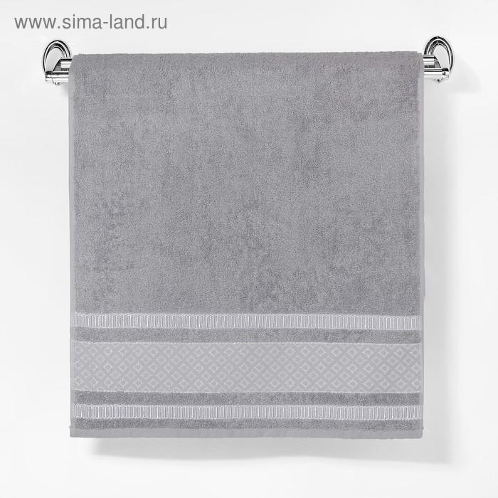 """Полотенце махровое """"Этель"""" Bambolina, серый 50*90 см бамбук, 460 г/м2"""