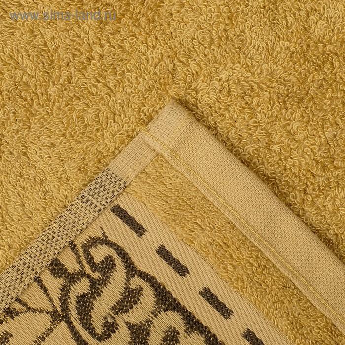 """Полотенце махровое """"Этель"""" Flabello, оливковый 70*140 см бамбук, 450 г/м2"""