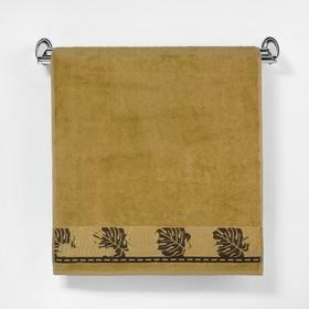 """Полотенце махровое """"Этель"""" Flabello, размер 30х50 см, цвет горчичный"""