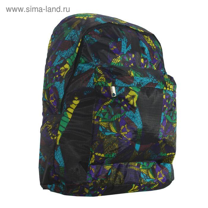 Рюкзак молодёжный на молнии, 1 отдел, наружный карман, сиреневый