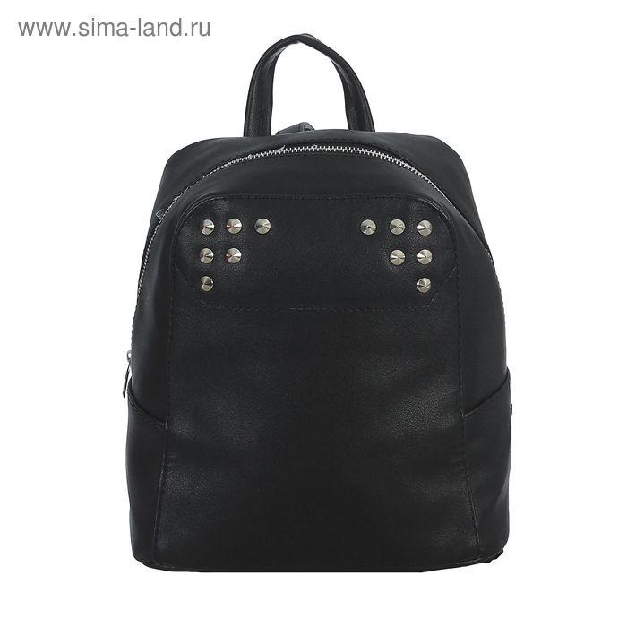 Рюкзак на молнии, 1 отдел, наружный карман, чёрный