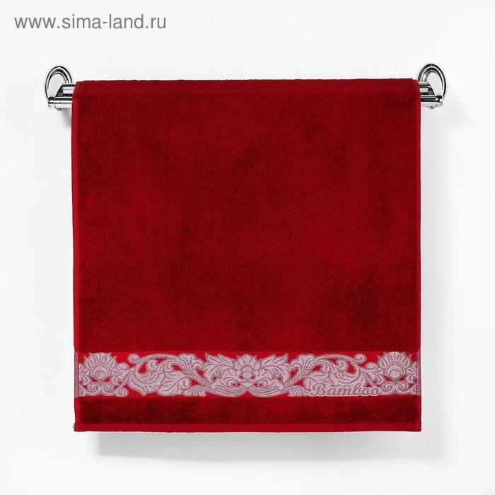 """Полотенце махровое """"Этель"""" Vitigno, бордовый 50*90 см бамбук, 460 г/м2"""