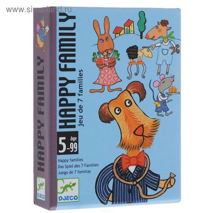 """Детская настольная карточная игра """"Счастливая семейка"""""""