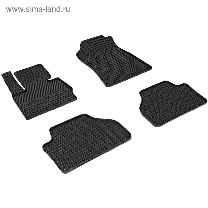 Коврики резиновые 'Сетка' для Mercedes-Benz C-Сlass W205, 2014-