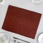 Коврик для сушки посуды, 30х40 см, микрофибра, цвет коричневый