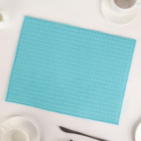 Коврик для сушки посуды 30×40 см, микрофибра, цвет голубой
