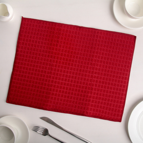 Коврик для сушки посуды 30×40 см, микрофибра, цвет красный