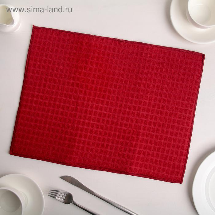 Салфетка для сушки посуды, 30х40 см, микрофибра, цвет красный