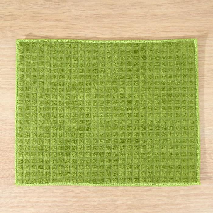Коврик для сушки посуды 30х40 см, микрофибра, цвет зеленый