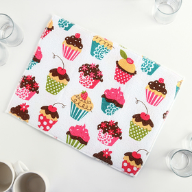 """Mat for drying dishes 30x40 cm """"Cakes"""""""