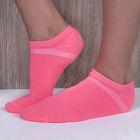 Набор носков женских ONLITOP спорт-3 шт, р-р36-39, роз, желт, фиол, 75% п/а,22% п/э,3% эл.