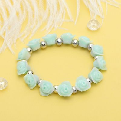 "Bracelet plastic ""Flowers"" roses, the color mint-Golden"