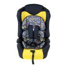 Автокресло-бустер Multi, группа 1-2-3, цвет жёлтый/чёрный «Формула скорости» - фото 891900