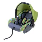 "Safe car seat, group 0+, color green ""Animals"""