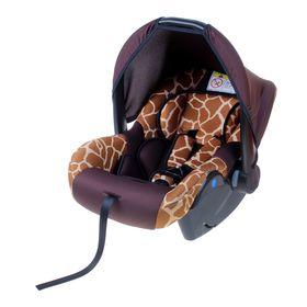 Автокресло Safe+, группа 0+, цвет коричневый «Жираф»