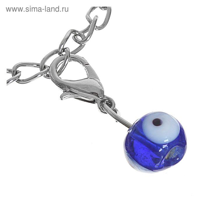 """Шармик """"Оберег"""" глазик мелкий, цвет синий"""