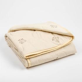 Одеяло Адамас облегчённое Овечья шерсть, размер 110х140±5 см, 200 г/м?