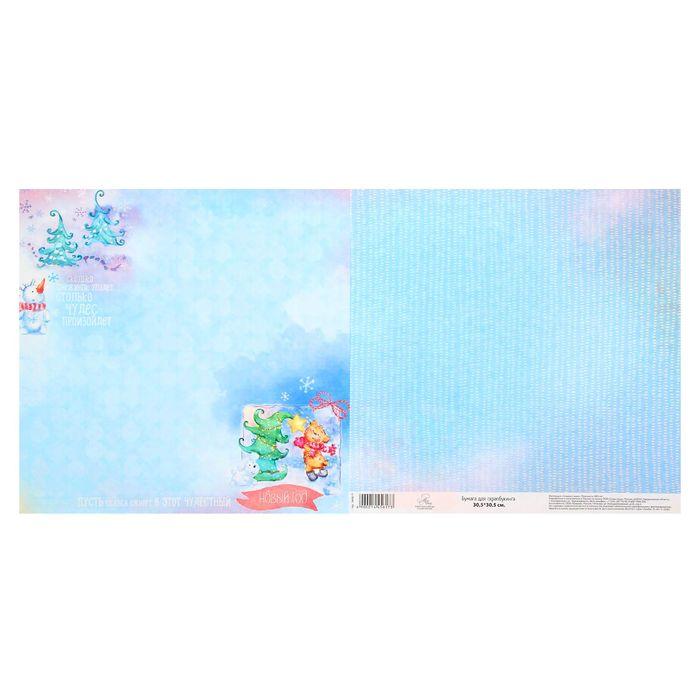 Бумага для скрапбукинга «Чудесные снежинки», 30,5 × 30,5 см 180 г/м