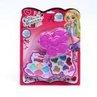 Набор косметики для девочки «Двойная бабочка»: тени, тени с блёстками, помада, аппликаторы - фото 106546901