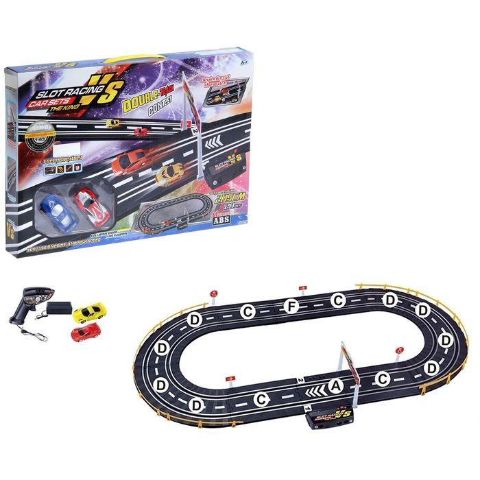 """Автотрек """"Спортивные гонки"""", работает от батареек, трек 95*51, длина 205см"""