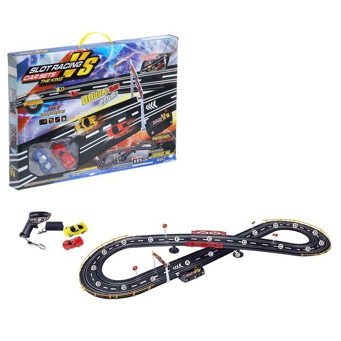 """Автотрек """"Спортивные гонки"""", работает от батареек, трек 136*48, длина 300см"""