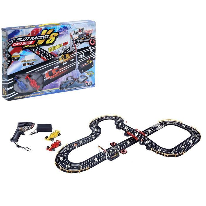 """Автотрек """"Спортивные гонки"""", работает от батареек, трек 160*125, длина 480см"""