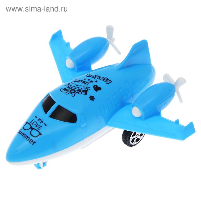 Самолёт инерционный «Суперавиация», цвета МИКС