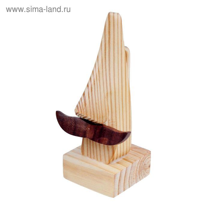 Дер статуэтка-очечница нос с усами пайн вуд