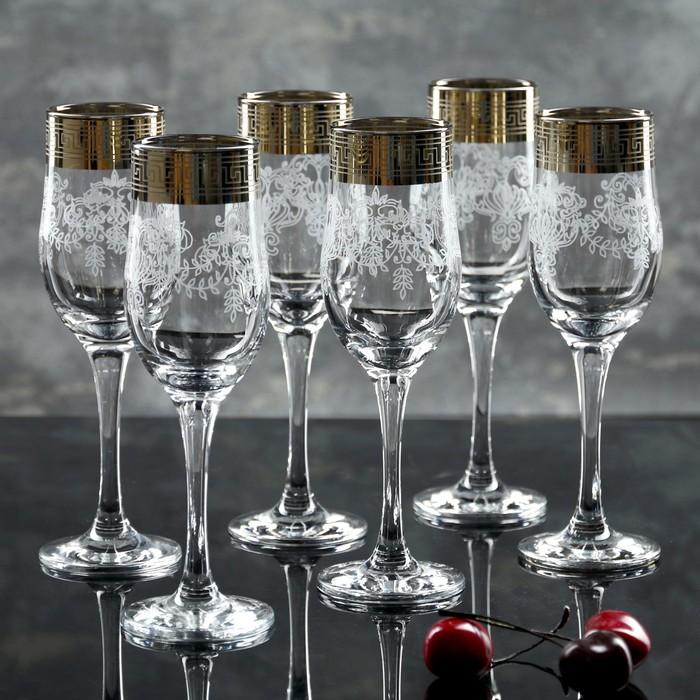 """Набор бокалов для шампанского 200 мл """"Барокко"""", 6 шт"""