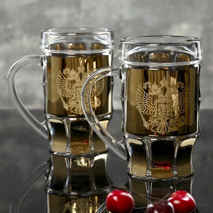 "Набор кружек для пива 500 мл ""Герб"", 2 шт"