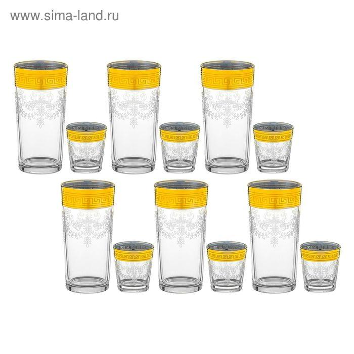 "Набор ""Барокко"", 12 предметов: 6 стаканов 200 мл и 6 стопок 50 мл"