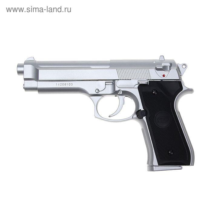 Пистолет софтэйр ASG M92 FS хром, пружинный кал. 6 мм.