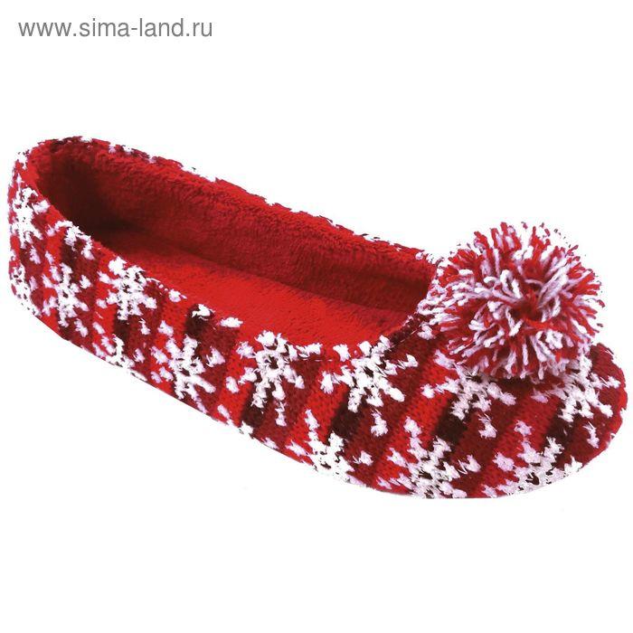 Тапочки женские Forio арт. 135-5511 Б (красный) (р. 37)