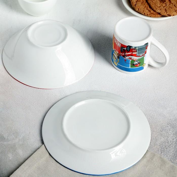 """Набор """"Щенячий патруль"""", 3 предмета: кружка 240 мл, миска 18 см (750 мл), тарелка 19 см"""