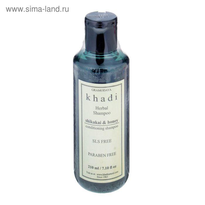 Шампунь для волос без СЛС Khadi Natural шикакаи, мёд, 210 мл