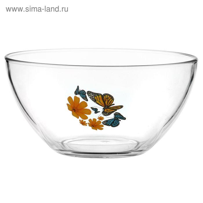 """Салатник 850 мл """"Бабочки и оранжевые цветы"""", d=16 см"""