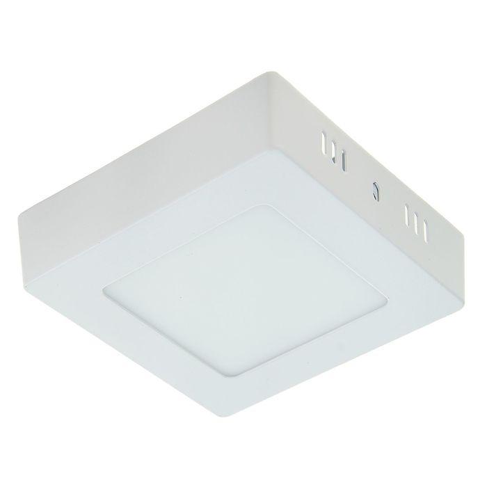 Панель квадратная накладная 120х120 мм, 6 W, LED-30-2835-420Lm-6500К-120deg-160-260V