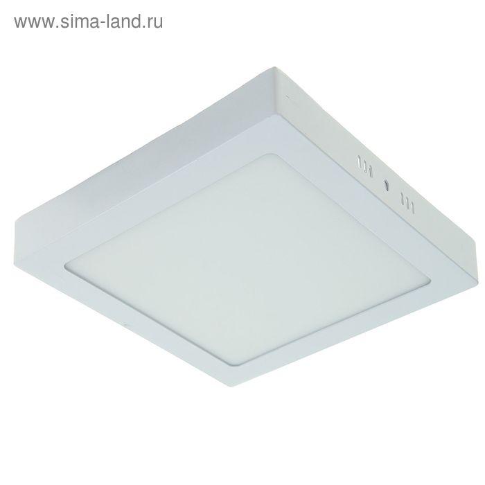Панель квадратная накладная 225х225 мм, 18 W, LED-90-2835-1260Lm-6500К-120deg-160-260V