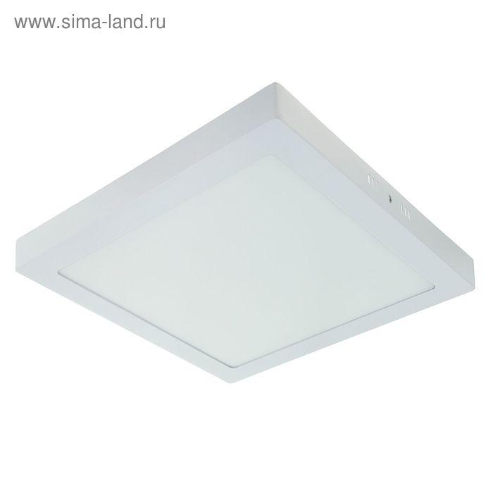 Панель квадратная накладная 300х300 мм, 24 W, LED-120-2835-1680Lm-6500К-120deg-160-260V